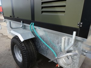 Galv mudguards and pipe brackets